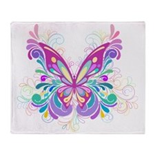 Decorative Butterfly Throw Blanket