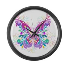 Decorative Butterfly Large Wall Clock