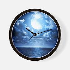 Night Ocean Wall Clock