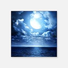 "Night Ocean Square Sticker 3"" x 3"""