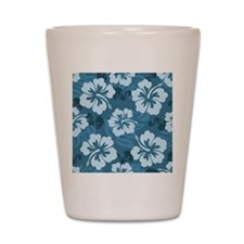 Blue Hibiscus Shot Glass