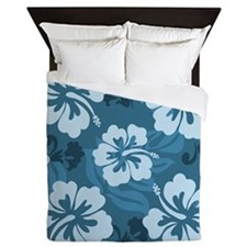 Blue Hibiscus Queen Duvet