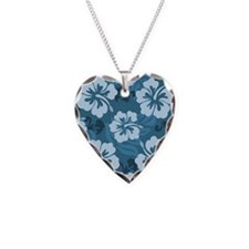 Blue Hibiscus Necklace