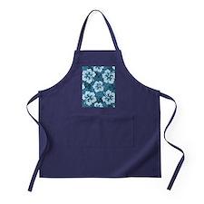 Blue Hibiscus Apron (dark)
