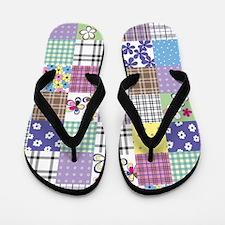 Patchwork Flip Flops