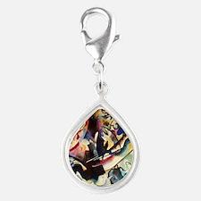 Wassily Kandinsky Compositi Silver Teardrop Charm