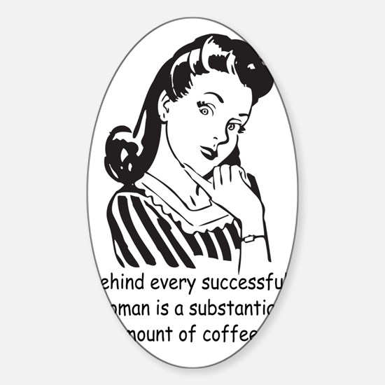Vintage Housewife Sticker (Oval)