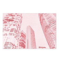Tokyo Skyline, Shinjuku Postcards (Package of 8)