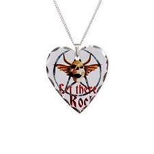 pentagram devil wingskull bur Necklace