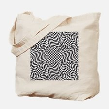 Optical Check Tote Bag