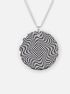 Optical Check Necklace