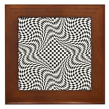Optical Check Framed Tile