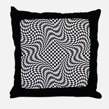 Optical Check Throw Pillow