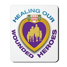 HOWH Purple Heart Logo Mousepad