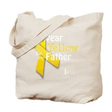 trans_i_wear_yellow_for_my_father_updated Tote Bag
