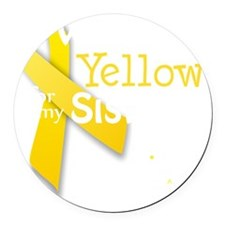 trans_i_wear_yellow_for_my_sister Round Car Magnet