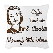 Mommys little Helpers Woven Throw Pillow