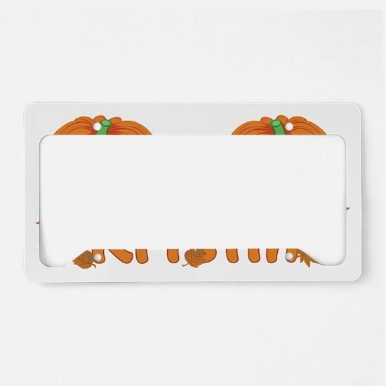 Halloween Pumpkin Kristin License Plate Holder