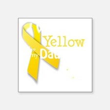 """trans_i_wear_yellow_for_my_ Square Sticker 3"""" x 3"""""""