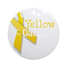 trans_i_wear_yellow_for_my_daughter Round Ornament