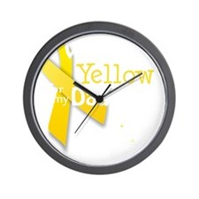 trans_i_wear_yellow_for_my_daughter_upd Wall Clock