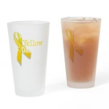 trans_i_wear_yellow_for_my_daughter Drinking Glass