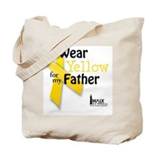 i_wear_yellow_for_my_father_updated Tote Bag