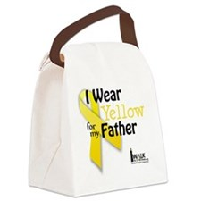 i_wear_yellow_for_my_father_updat Canvas Lunch Bag