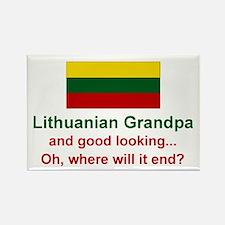 Gd Lkg Lithuanian Grandpa Rectangle Magnet