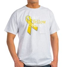 trans_i_wear_yellow_for_my_mother_up T-Shirt