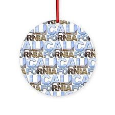 California Round Ornament