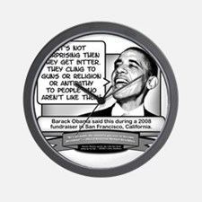 Obama Sez You Are Bitterly Clinging Wall Clock