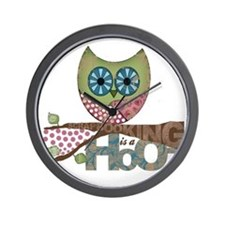 Scrapbooking is a Hoot! Featuring Owl Wall Clock