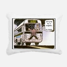 Hit  By The Bus Rectangular Canvas Pillow