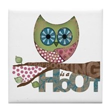 Scrapbooking is a Hoot! Featuring Owl Tile Coaster