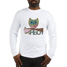 Scrapbooking is a Hoot! Featur Long Sleeve T-Shirt