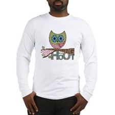 Scrapbooking is a Hoot! Featur Long Sleeve T-Shirt