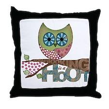 Scrapbooking is a Hoot! Featuring Owl Throw Pillow