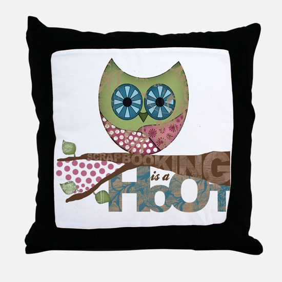 Scrapbooking is a Hoot! Featuring Owl Throw Pillow