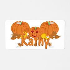 Halloween Pumpkin Kathy Aluminum License Plate