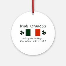 Gd Lkg Irish Grandpa Ornament (Round)
