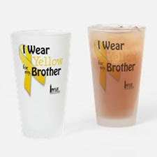 I Wear Yellow for my Brother Drinking Glass
