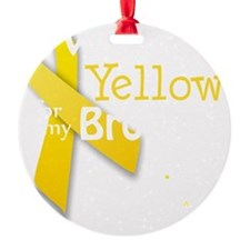 I Wear Yellow for my Brother transp Ornament