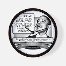 Obama Sez Israel Is a Friend to Israel Wall Clock