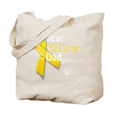trans_i_wear_yellow_for_my_dad_updated Tote Bag