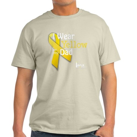 trans_i_wear_yellow_for_my_dad_updat Light T-Shirt