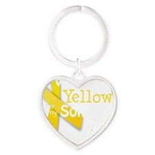 trans_i_wear_yellow_for_my_son_upda Heart Keychain
