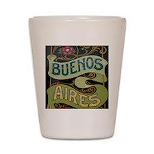 Buenos Aires fileteado Shot Glass