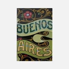 Buenos Aires fileteado Rectangle Magnet