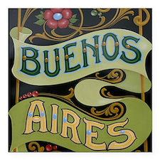 "Buenos Aires fileteado Square Car Magnet 3"" x 3"""